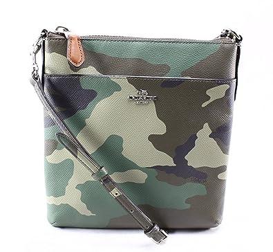 cdb2fcbdce New Coach 52662 North south Swingpack Camo Print Leather Handbag  Handbags   Amazon.com