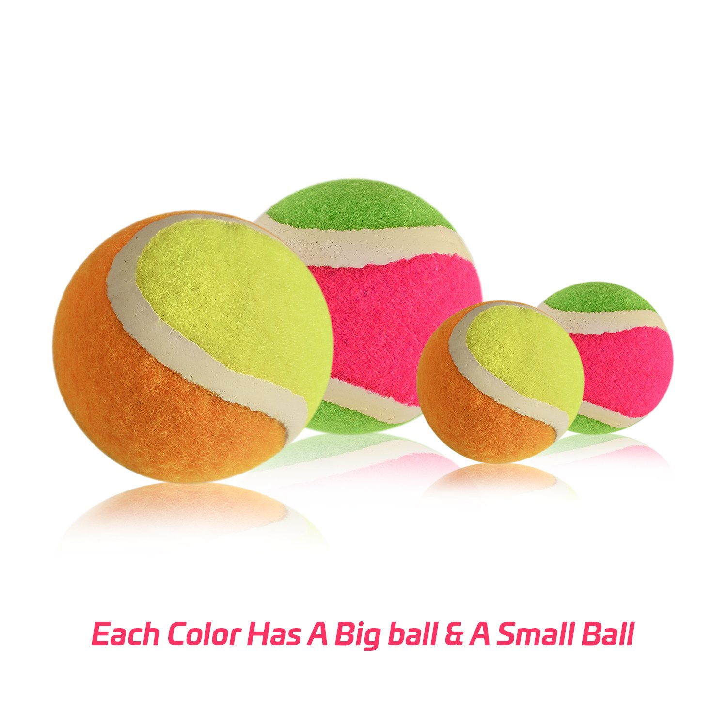 Abco Tech Paddle Toss and Catch Game Set - Self-Stick Disc Paddles and Toss Ball Sport Game - Equally Suitable Game for Kids by Abco Tech (Image #5)