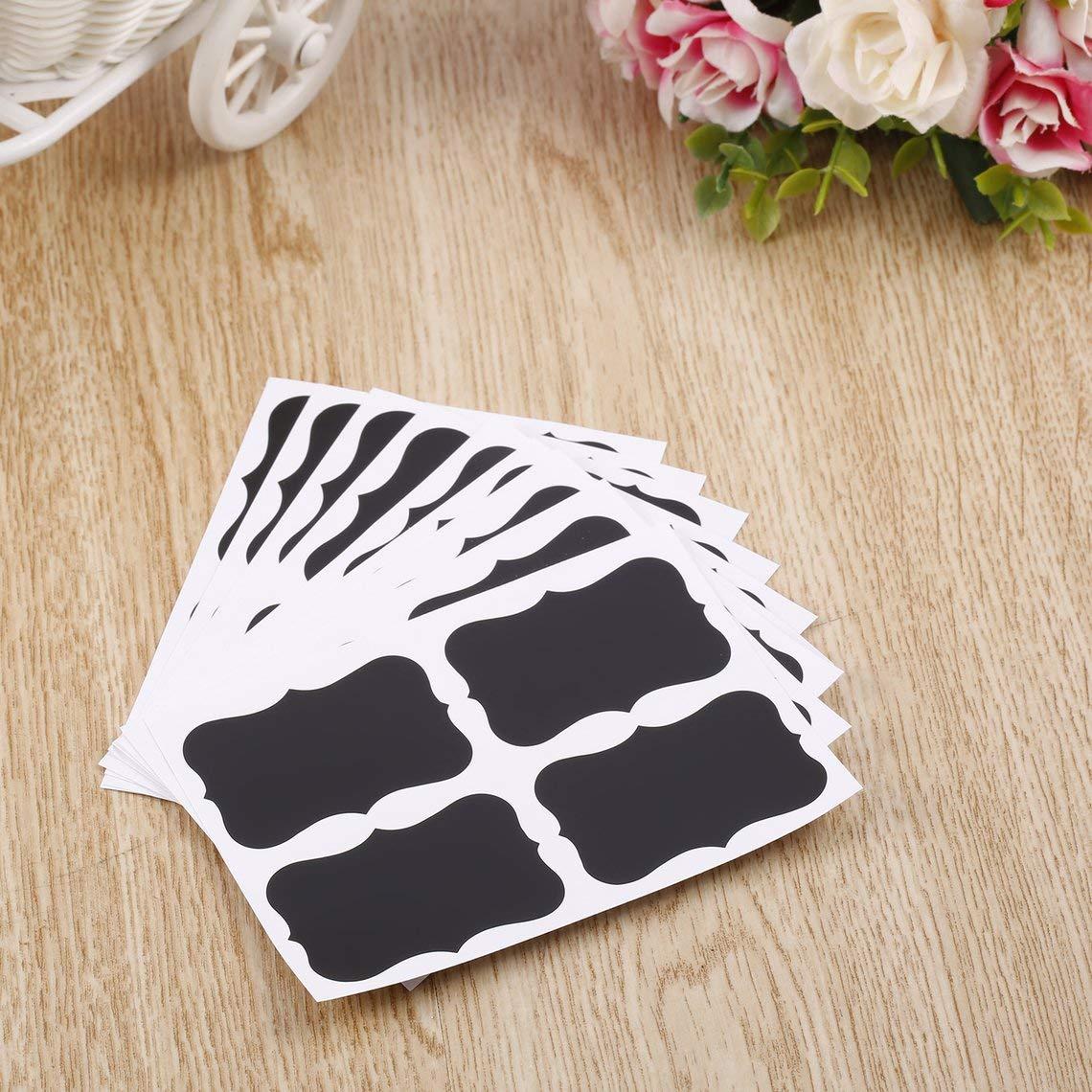 Zinniaya 36 Pcs Chalkboard Blackboard Chalk Board Stickers Craft Kitchen Jar Labels 49 x 34mm Decoration Decals Tags