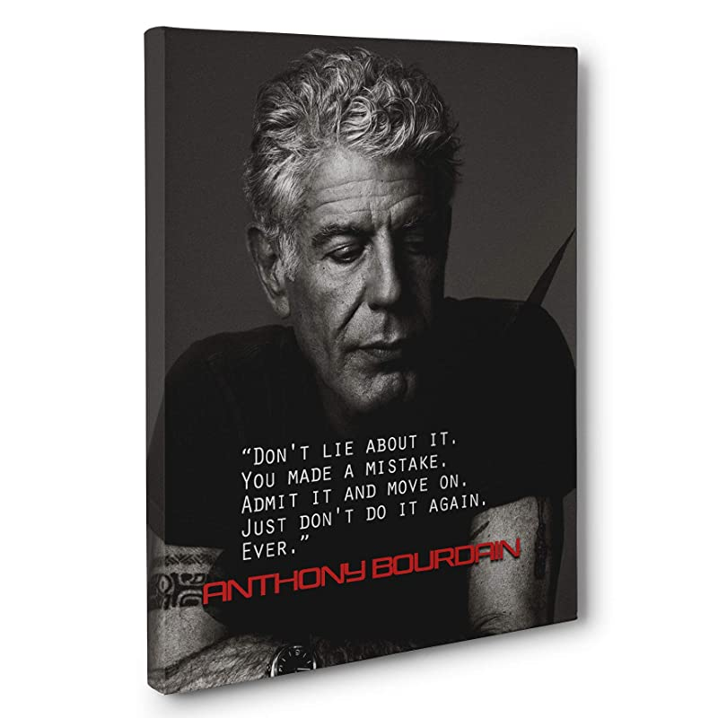 Anthony Bourdain Quote Inspirational Wall Decor  Signs for home  Food is everything  Kitchen wall art  Motivational Signs  Home Decor