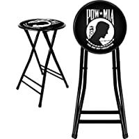 Deals on Trademark Gameroom POW Cushioned Folding Stool, 24-inch