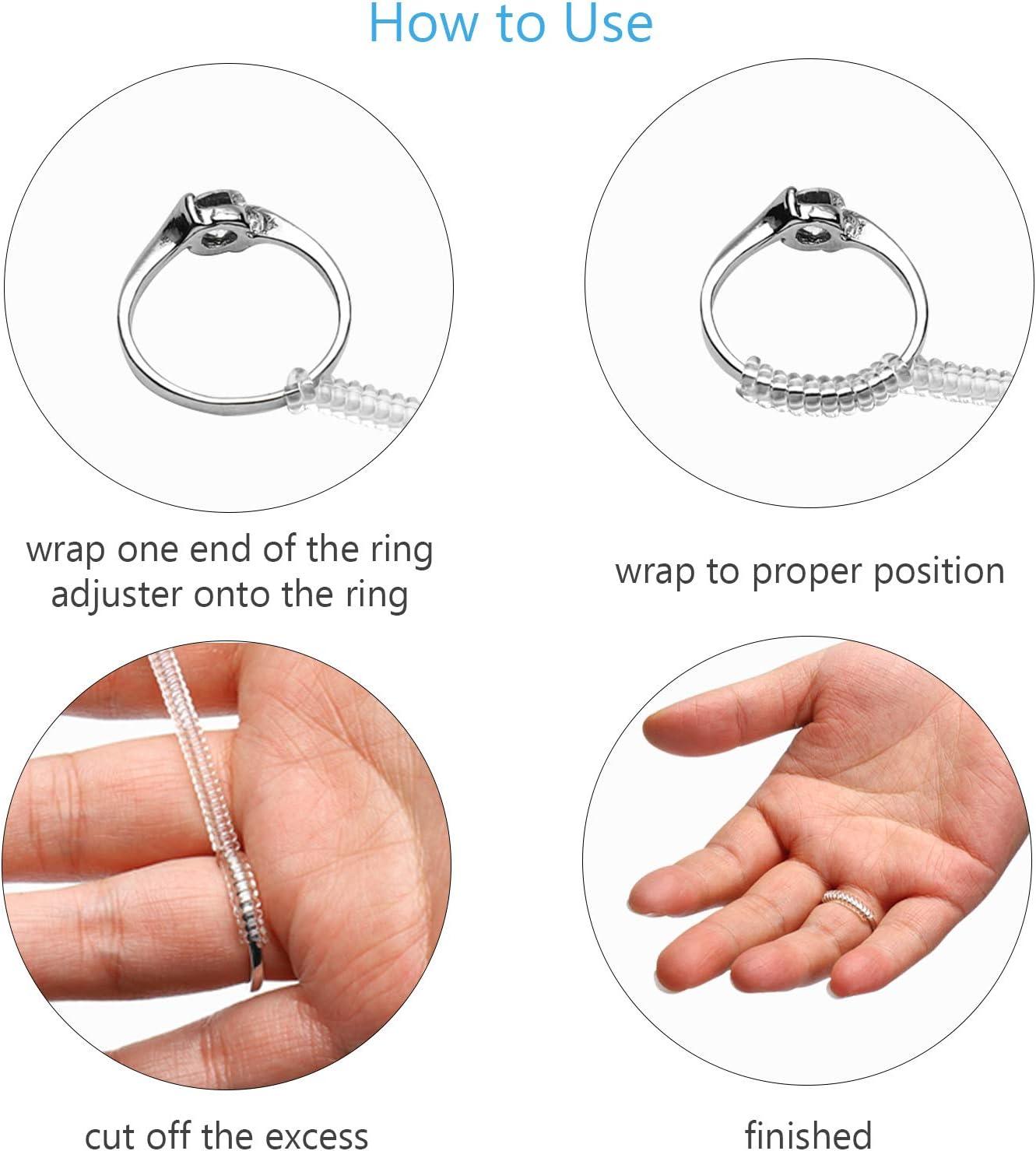 TAZEMAT 2 Ringgr/ö/ßenmesser Finger Size Measure 2 Ringgr/ö/ßenmesser mit ausf/ührlicher Anleitung 6 Ring Guard f/ür Lose Ringe f/ür Damen Herren Schmuck Gr/ö/ßenstandard UK USA