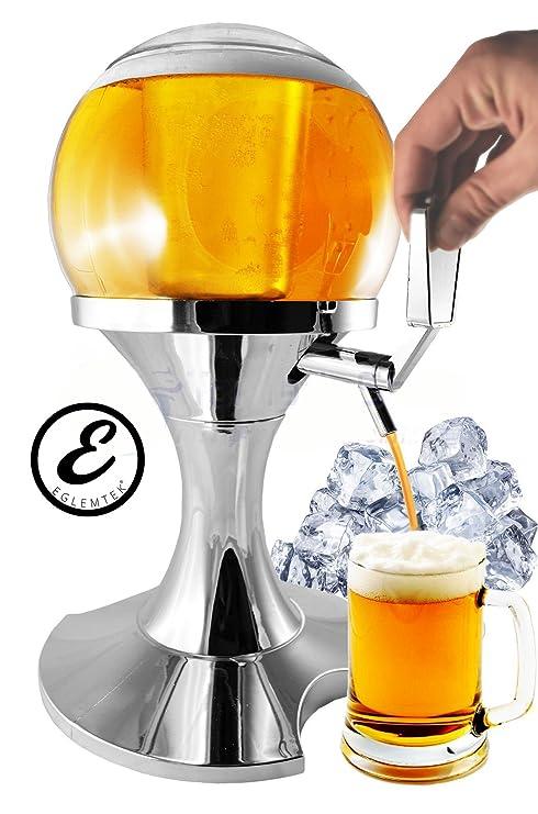 Secador para dispensador refrigerado Cerveza y bebidas en forma de bola con caja para cubitos de