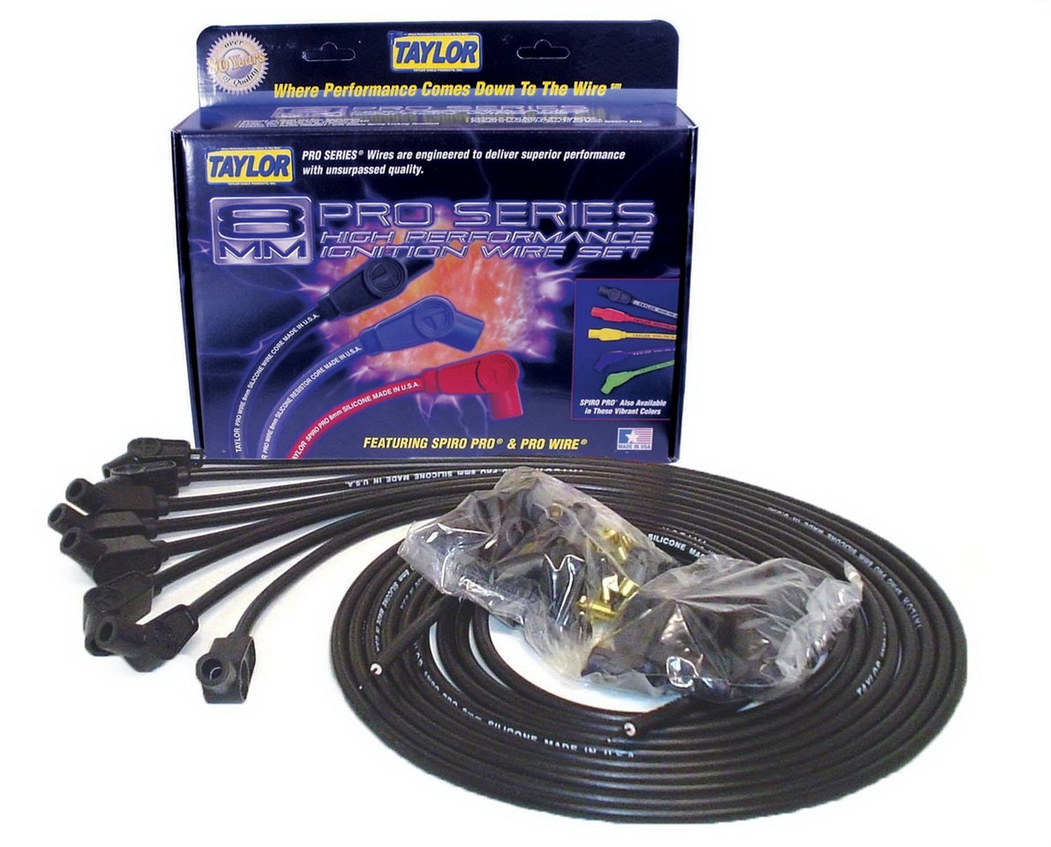 Taylor Cable 73053 Spiro-Pro Black Spark Plug Wire Set by Taylor Cable