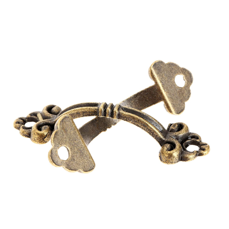 Dophee 12Pcs Small Brass Decorative Jewelry Box Chest Drawer Cabinet Knob Pull Handle