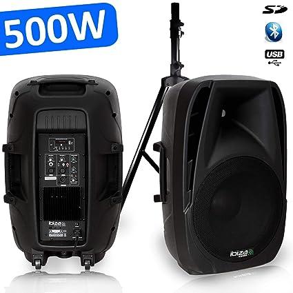 Altavoz amplificada Sono DJ PA 500 W USB/SD/Bluetooth bt-15 a + ...