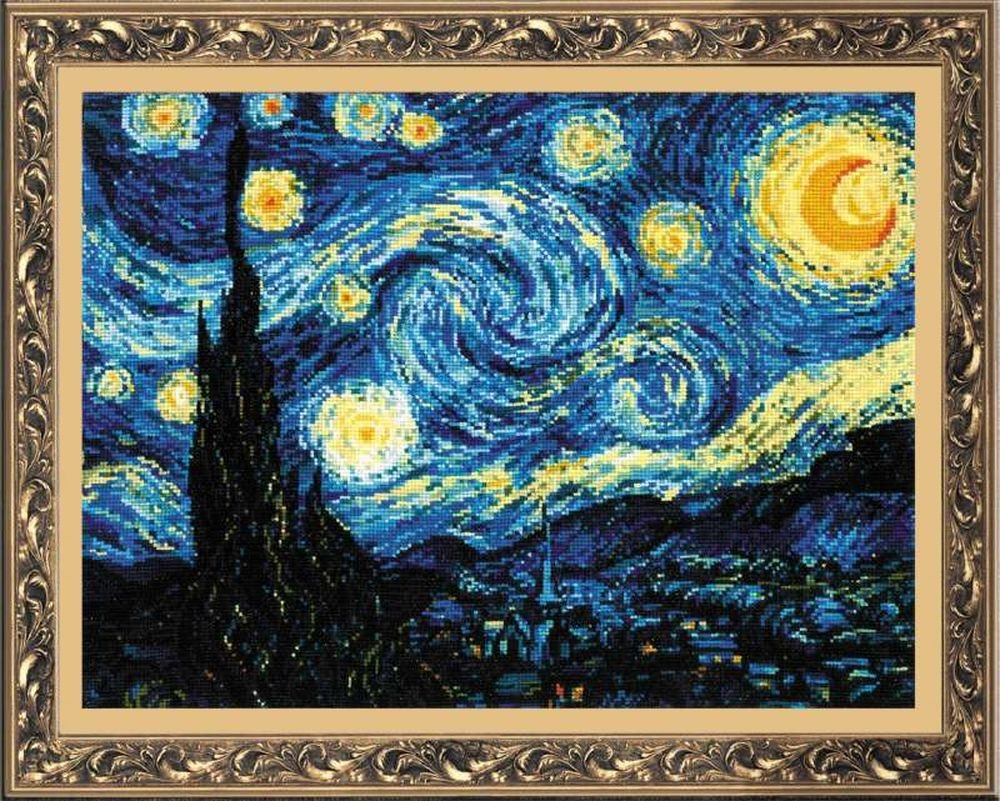 RIOLIS Starry Night After Van Gogh's Painting Counted Cross Stitch R1088