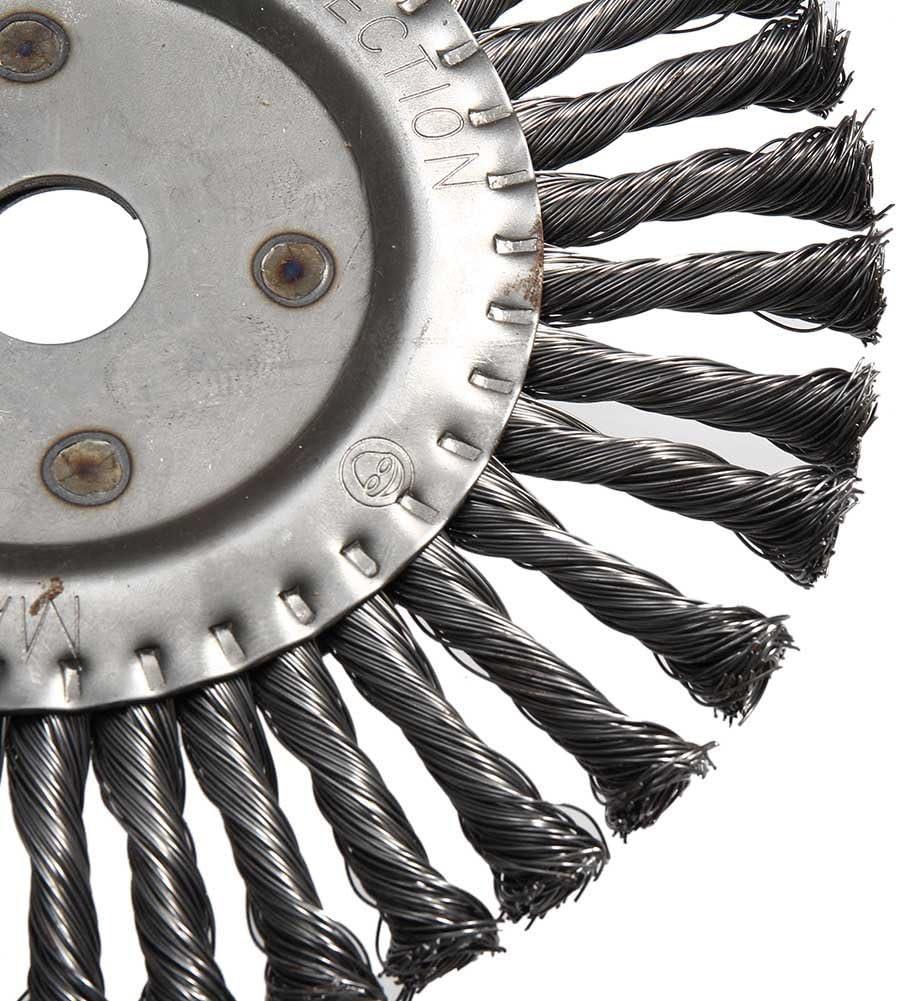 ROKOO Brosse ronde de brosse de roue de fil de torsion ronde 200mm Brosse de d/ébroussailleuse