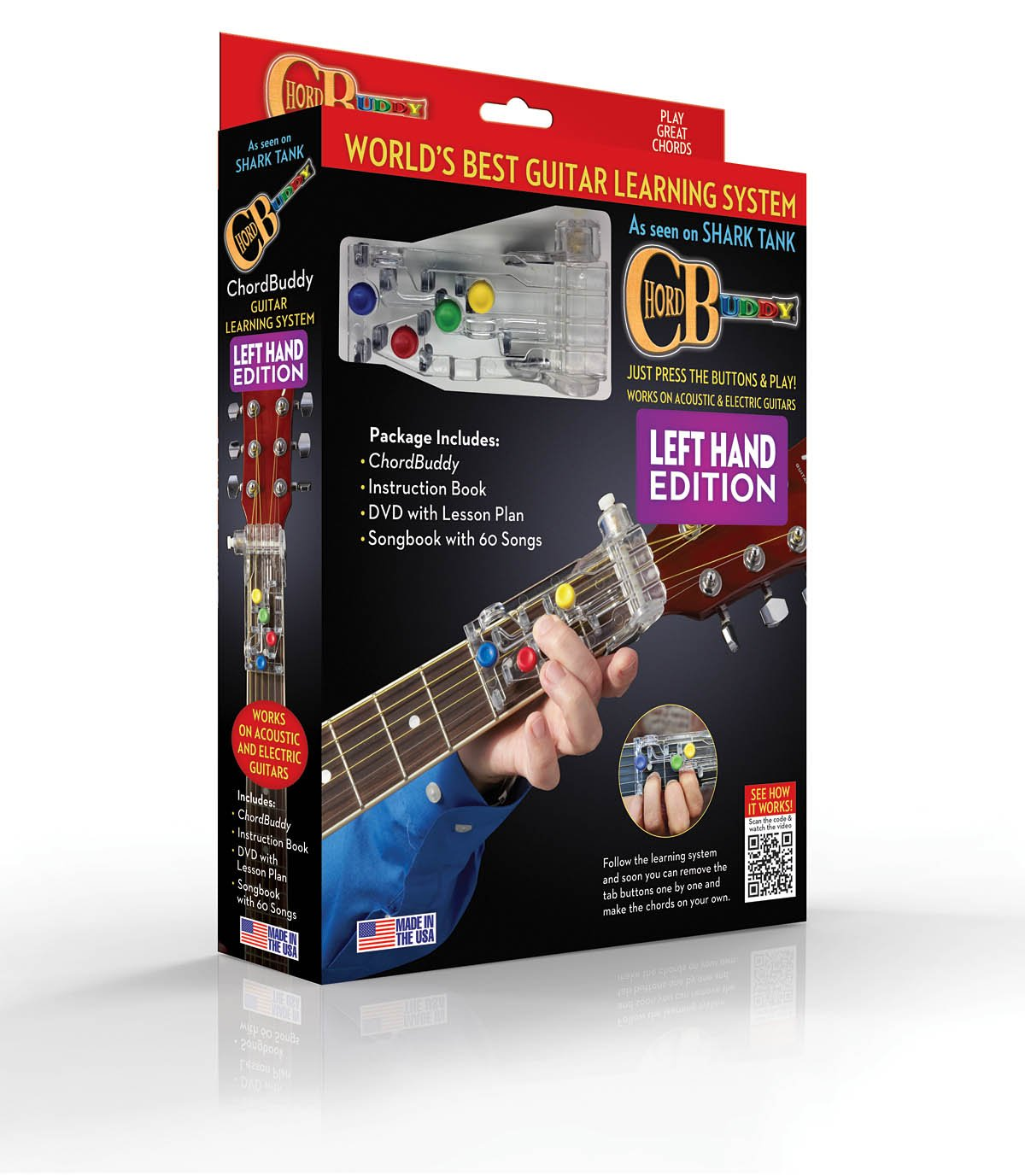 Amazon Chordbuddy Left Handed Guitar Learning System Musical