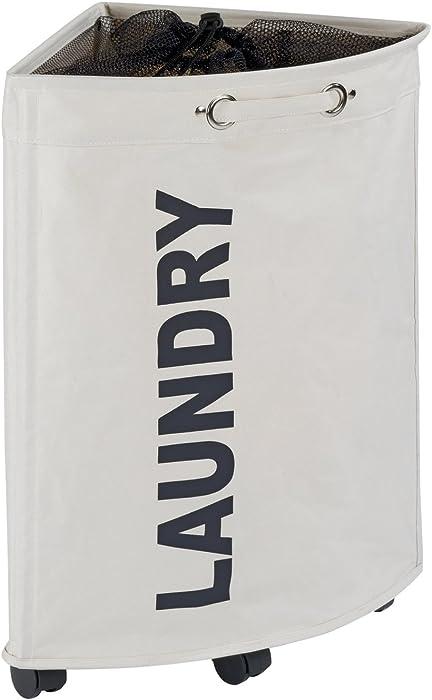 "WENKO Tresco Laundry Bin, 13.21 gallon/13"" x 23.6"" x 13"", Beige"