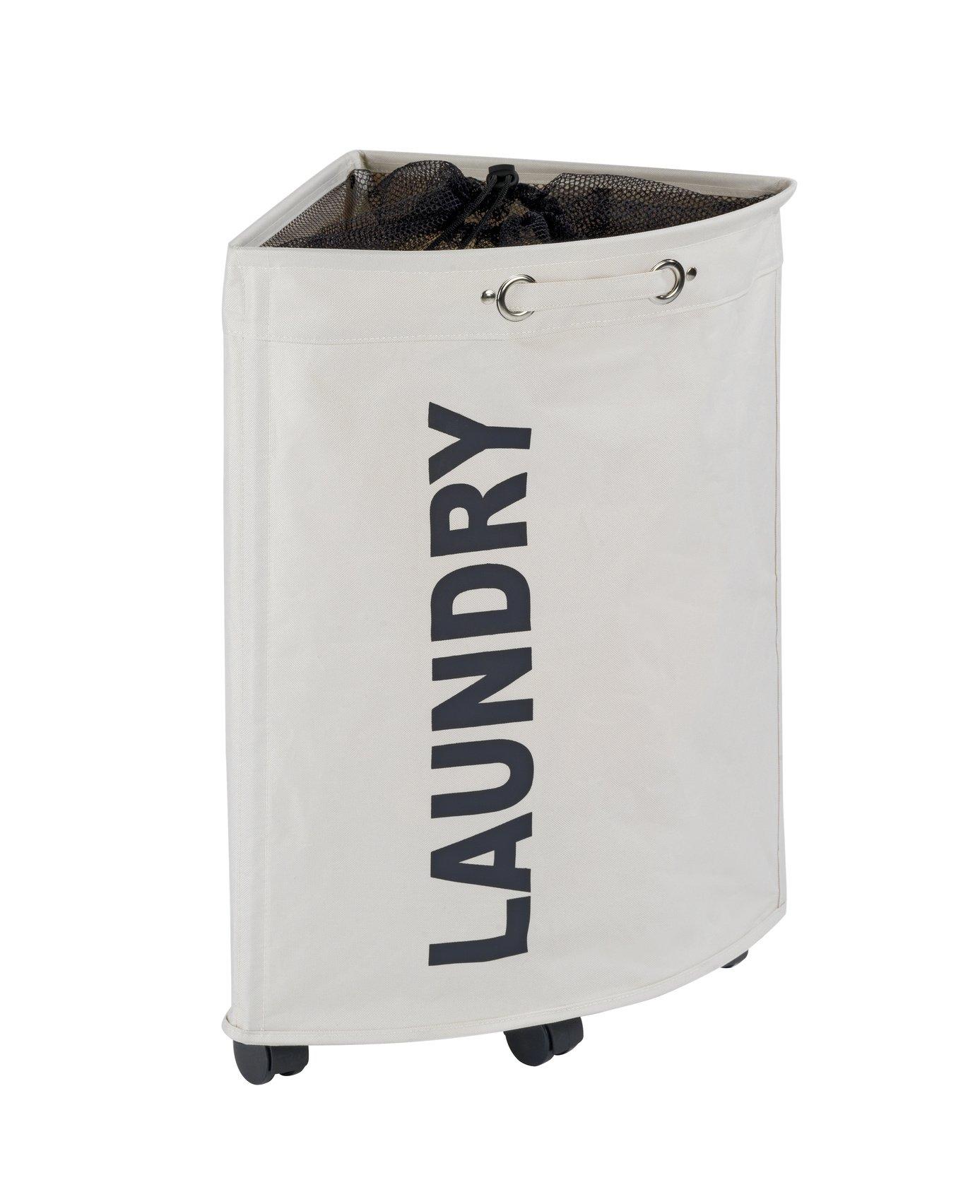 WENKO Tresco Laundry Bin, 13.21 gallon/13'' x 23.6'' x 13'', Beige by WENKO
