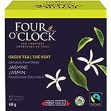 Four O'Clock Organic Fairtrade Green Tea Jasmine, Non-GMO, Kosher, Gluten-Free, 40 Count, 68g