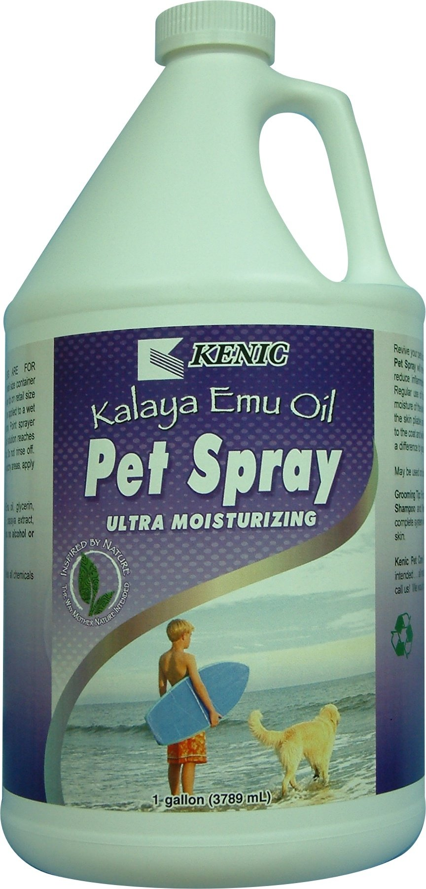 Kenic Kalaya Emu Oil Pet Spray, 1-Gallon by Kenic