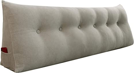 Bed Rest Wedge Bolster Pillow Cushion Daybed Back Support Lumbar Reading Pillow
