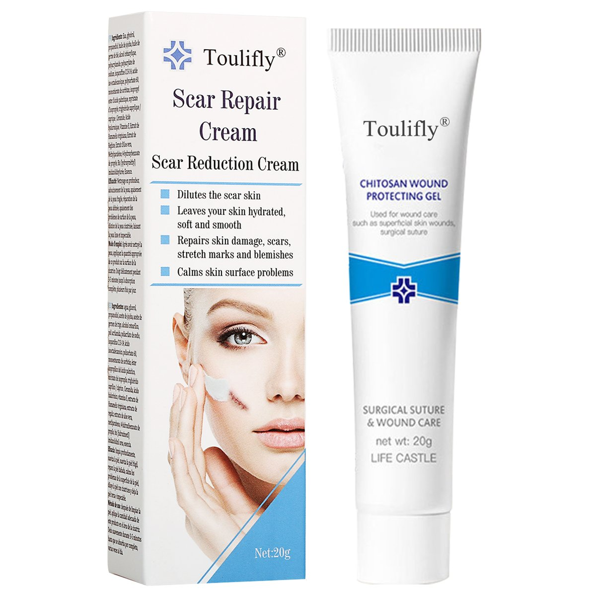 Scar Removal,Acne Scar Removal,Scar Gel,Scar Treatment Cream,Scar Fade Cream for Face and Body Reduces the Appearance of Old & New Scars