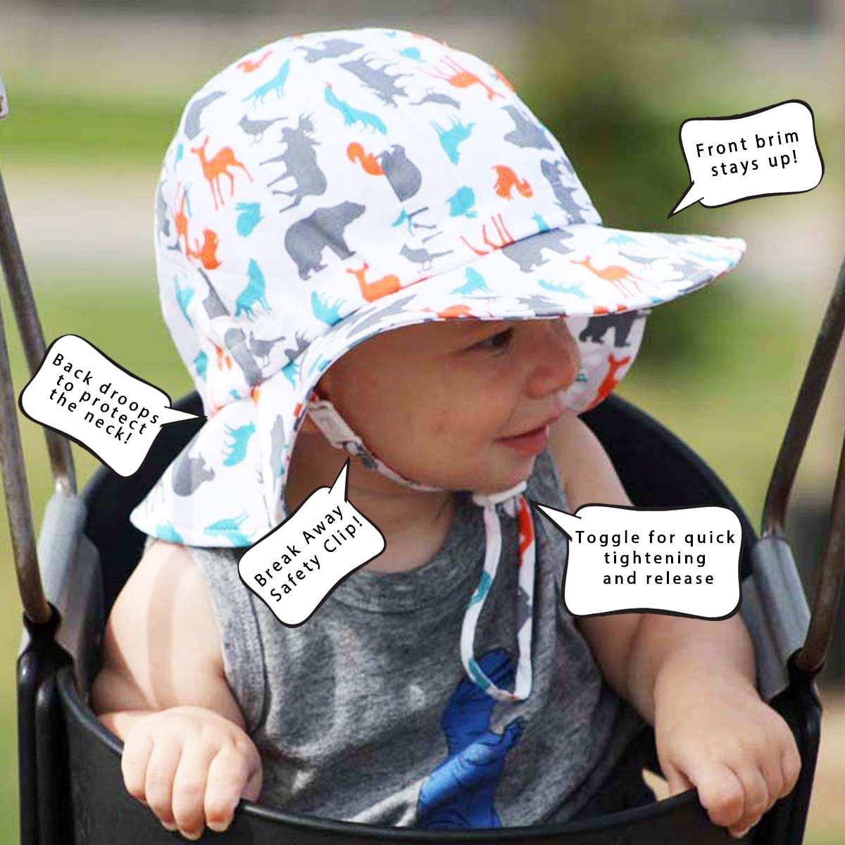 19396cdb Twinklebelle Toddler Boys Kids Breathable Sun Hats 50 UPF, Hat Size  Adjustable, Neck Strap (L: 2-12Y, Floppy Hat: Blue Stripes)