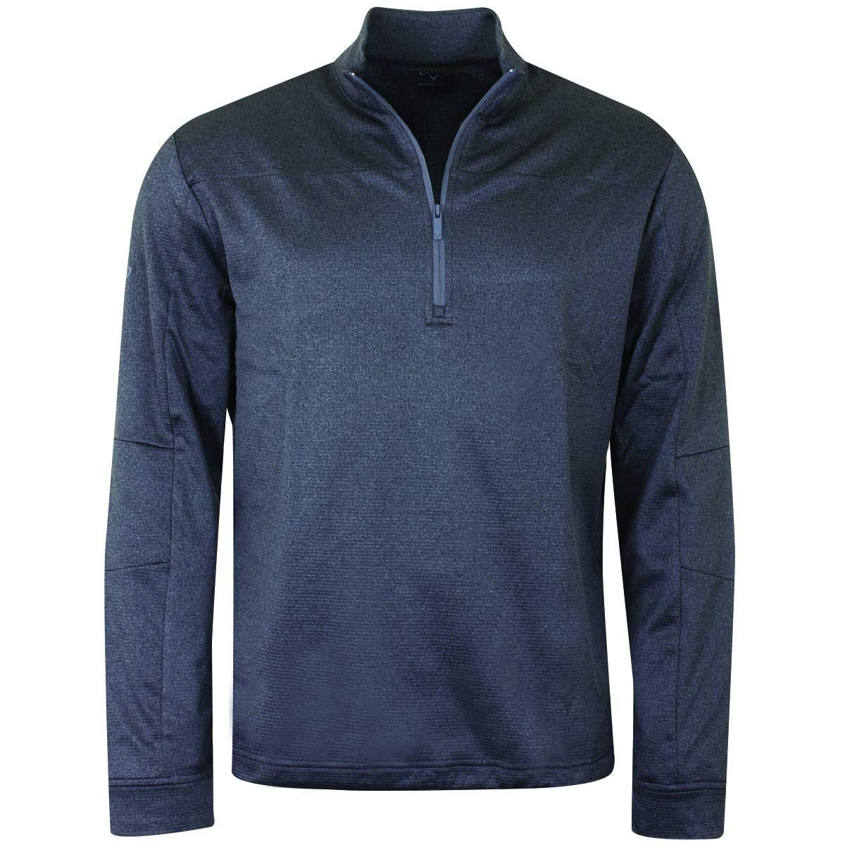 Callaway Golf 2019 Mens Pieced Waffle 1/4 Zip Thermal Pullover Sweater Castlerock Heather Large by Callaway