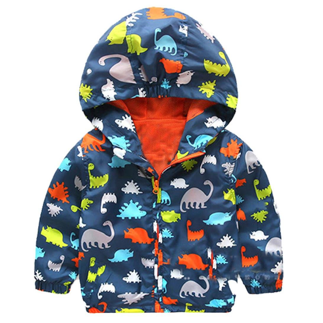 47383eb32 Amazon.com: vestitiy Toddler Kids Jacket Outwear, Infant Boys Girls  Dinosaur Zipper Hoodie Hooded Coat Children Clothes: Clothing