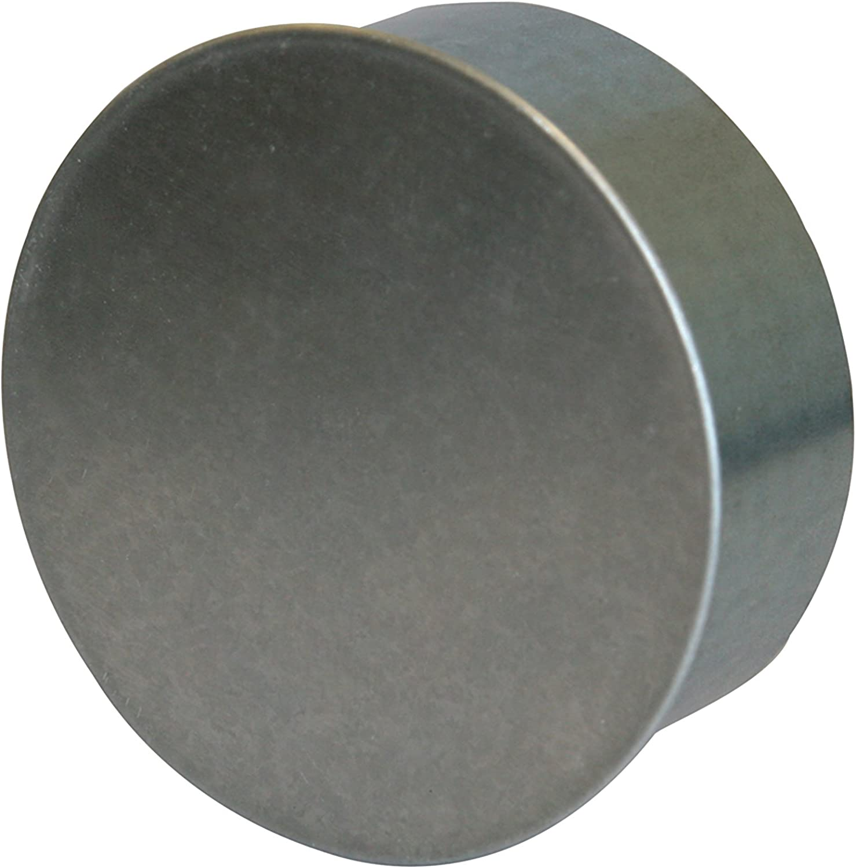 Kamino - Flam – Tapa para tubo de chimeneas, estufas y hornos de leña – acero con revestimiento de aluminio - Ø 80 mm – resistente a altas temperaturas