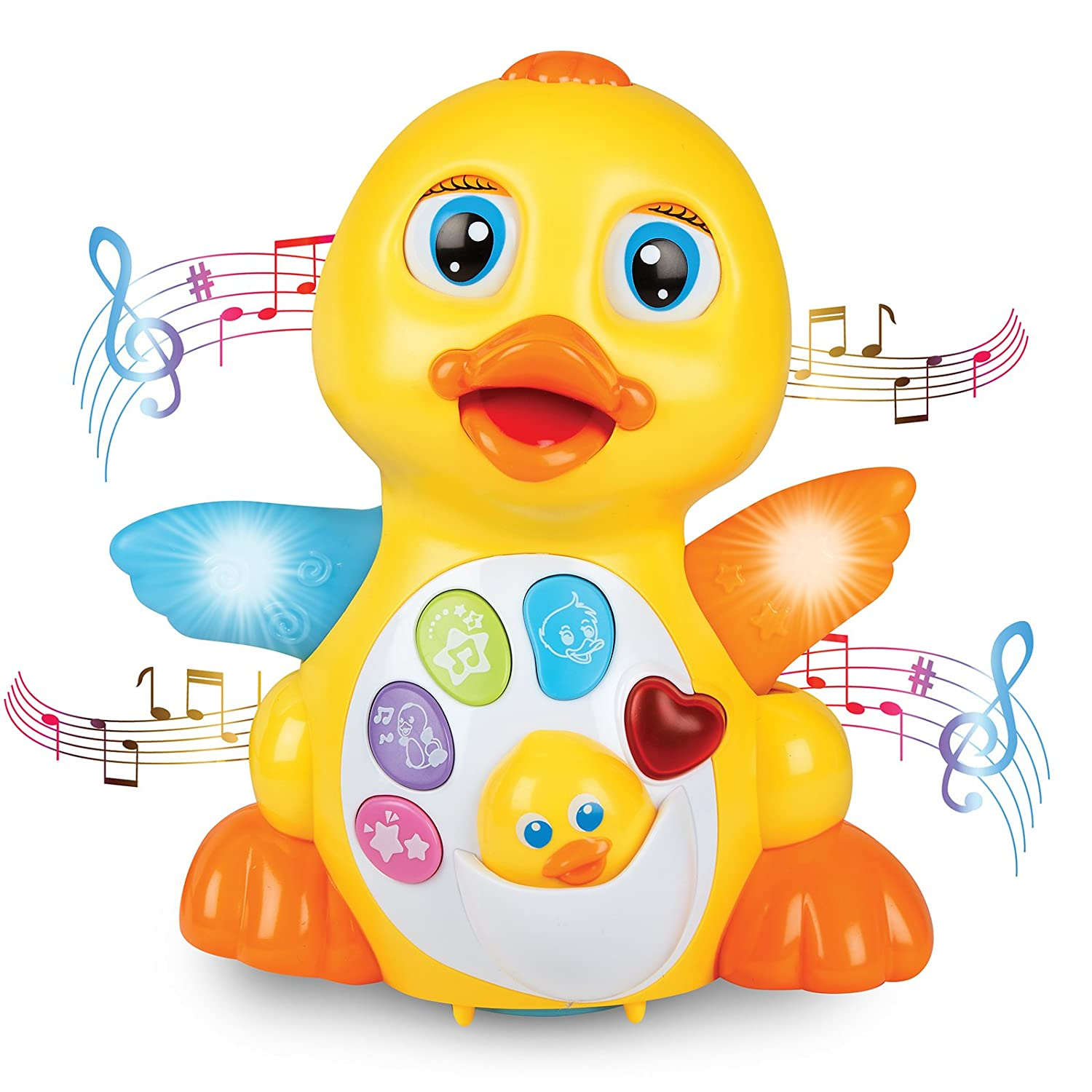 Amazon.com: JTOYS Light up Dancing and Singing Duck Toy: Toys & Games