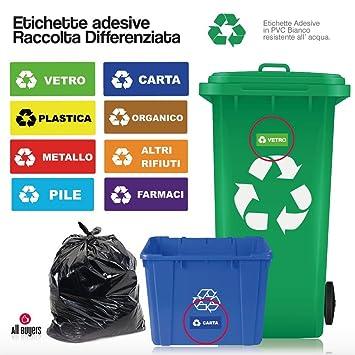 2Aintimo® - Pegatinas, placas adhesivas, para recogida selectiva de residuos - Papel,