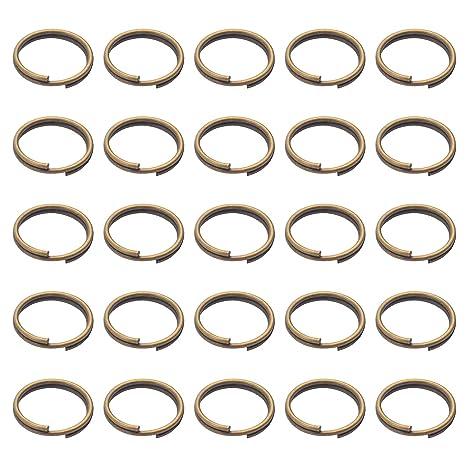 BronaGrand - 200 llaveros pequeños de bronce para organizar llaves ...