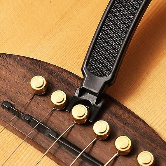 Herramienta Kongqiabona Herramienta Tres en uno para Cambiar Las Cuerdas de la Guitarra: Amazon.es: Bricolaje y herramientas