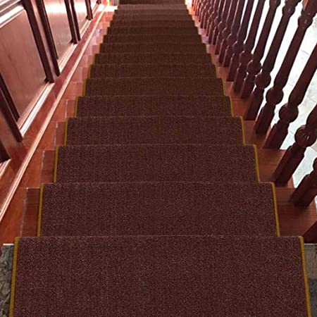 World-ditan Escalera Alfombra-Escalera Alfombra Paso Sin Pegamento Autoadhesivo Minimalista Moderno Escalera para el hogar Antideslizante (Color : B(5pcs), Tamaño : 65 * 24 * 3cm): Amazon.es: Hogar