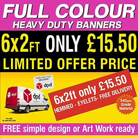 a1aa5fcd1f Personalised Custom Banner Vinyl Advertising Printed Signs