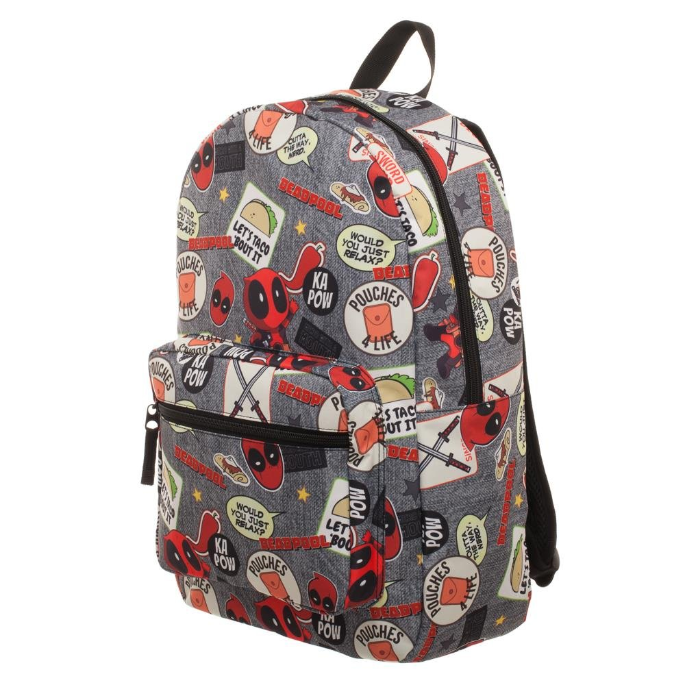 3066f762ce Amazon.com: Deadpool Backpack - Marvel Deadpool Patches Backpack: Hobby  Hunters