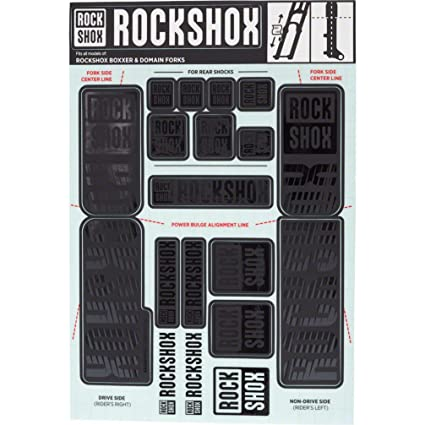 RockShox Decal Kit 30//32mm Stealth Black
