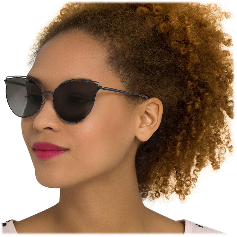 31ca84b761 Amazon.com  LVIOE Cat Eye Sunglasses for Women
