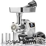 "STX International""Gen 2 -Platinum Edition"" Magnum 1800W Heavy Duty Electric Meat Grinder - 3 Lb High Capacity Meat Tray…"