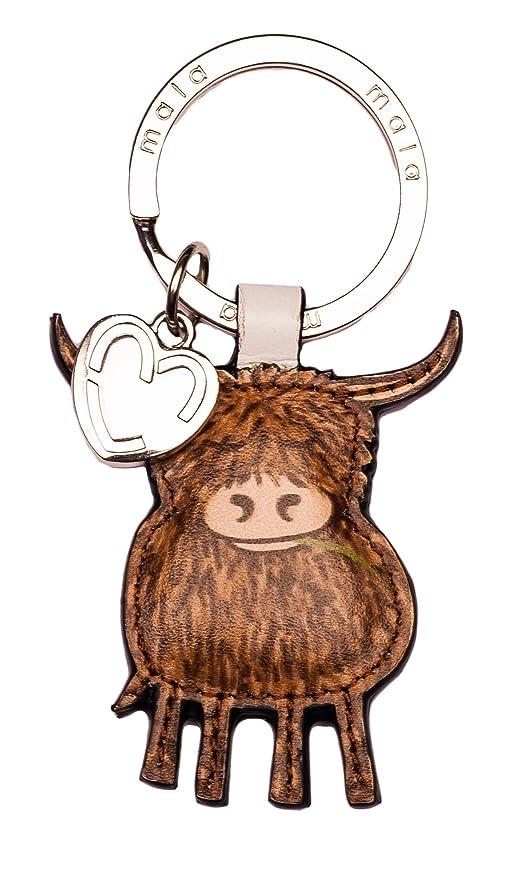 Mala Leather - Llavero de Piel de Vaca con Bolsa de Regalo ...