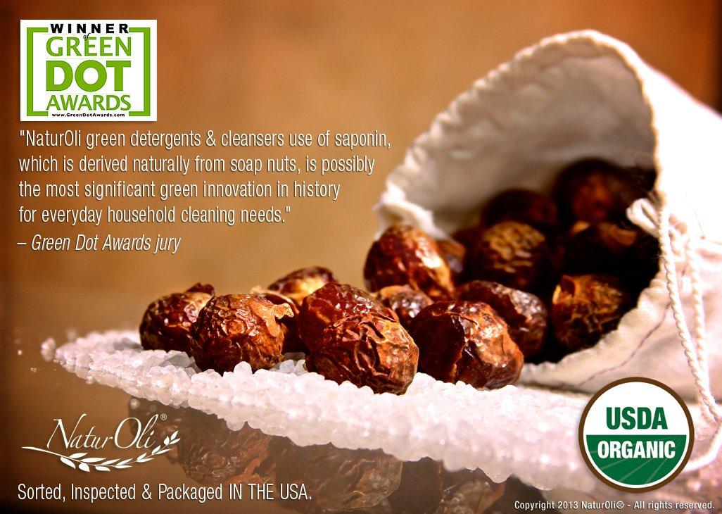 OVERSTOCK SALE!! NaturOli Organic Soap Nuts/Soap Berries PIECES/BULK - FIVE POUNDS (1000+ Loads) Seedless USDA Certified - Fresh Wild Harvest - Hypoallergenic, Non-toxic by NaturOli (Image #3)