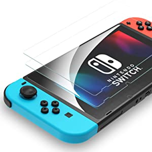 Syncwire Nintendo Switch Screen Protector Tempered Glass [2 Pack] Transparent HD Clear Screen Protector for Nintendo Switch [Anti-Scratch, Anti-Fingerprint, Shatterproof, Bubble-Free]