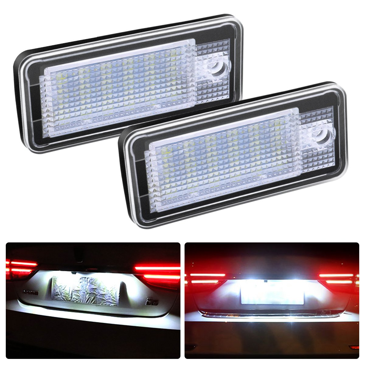 Ambother 2x LED Number License Plate Light for A3 A6 A4 Q7 de2hits13695