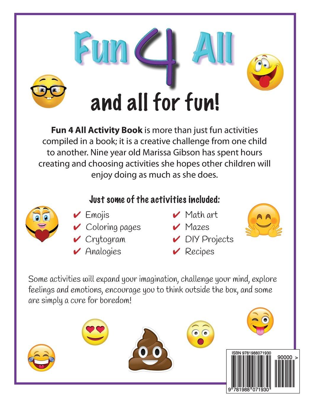 Fun 4 All Activity Book Inspires Creativity Cures Boredom