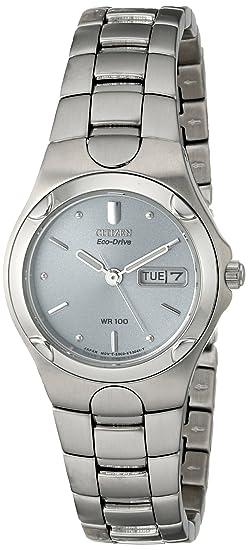 Citizen EW3030-50A - Reloj analógico de cuarzo para mujer, correa de acero inoxidable