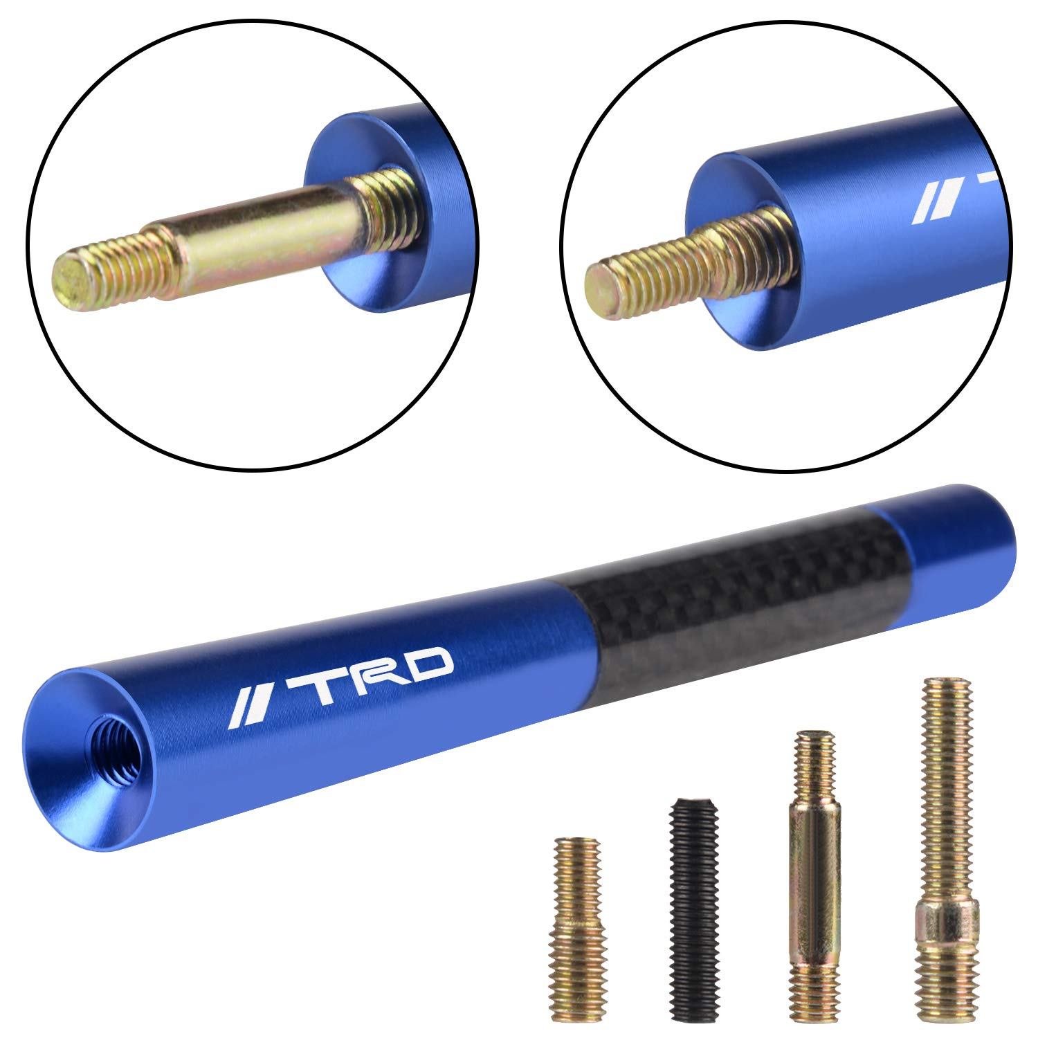 1995-2016 The Stubby TRD Antenna for Toyota Tacoma Models TRD Extreme Blue Ironman Edition X-Runner TRD Sport - Will fit Any Tacoma TRD Packages TRD Off-Road 1995-2016 T//X Baja TRD Pro