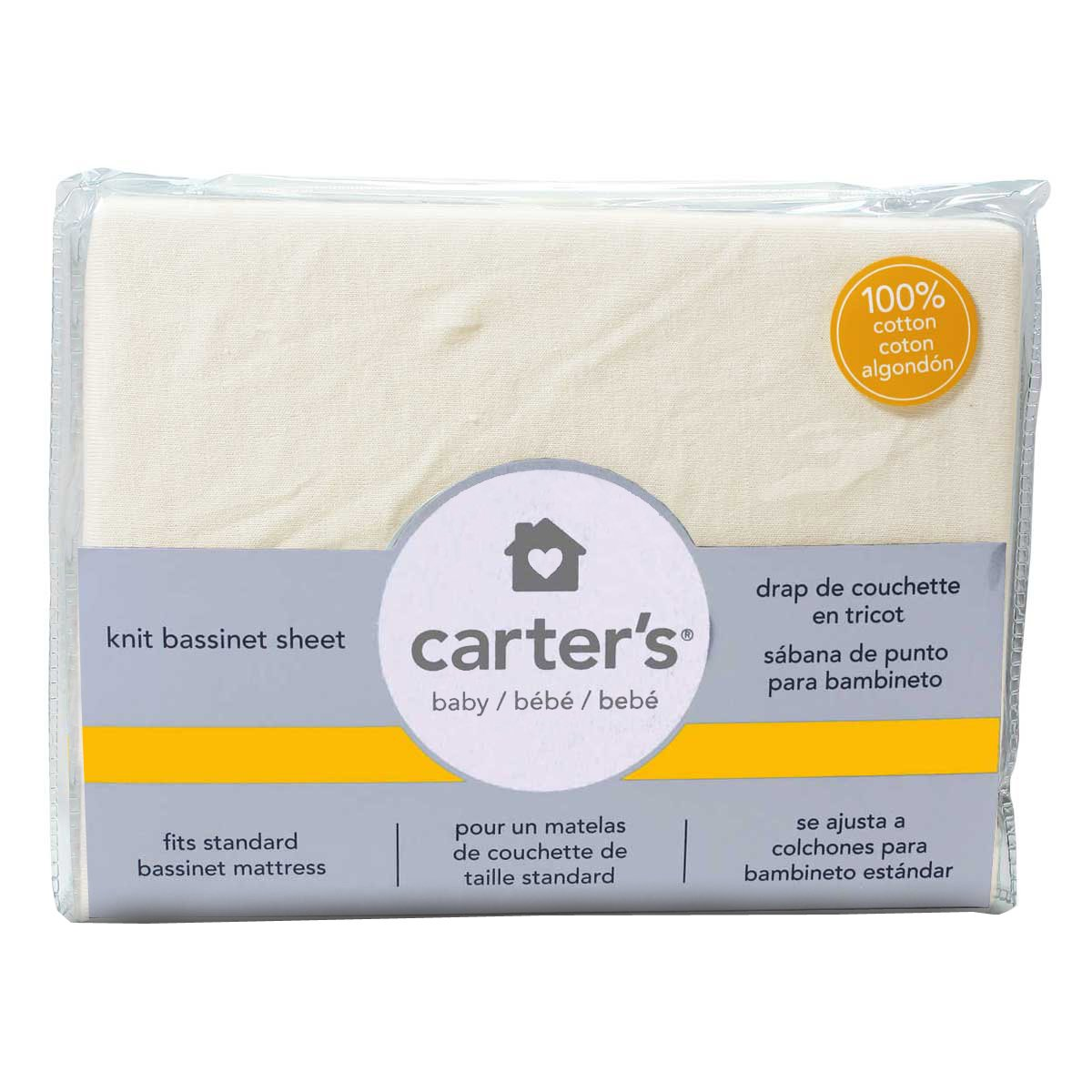 Amazon.com : Carters Jersey Cotton Bassinet Fitted Sheets - Home Spun : Baby