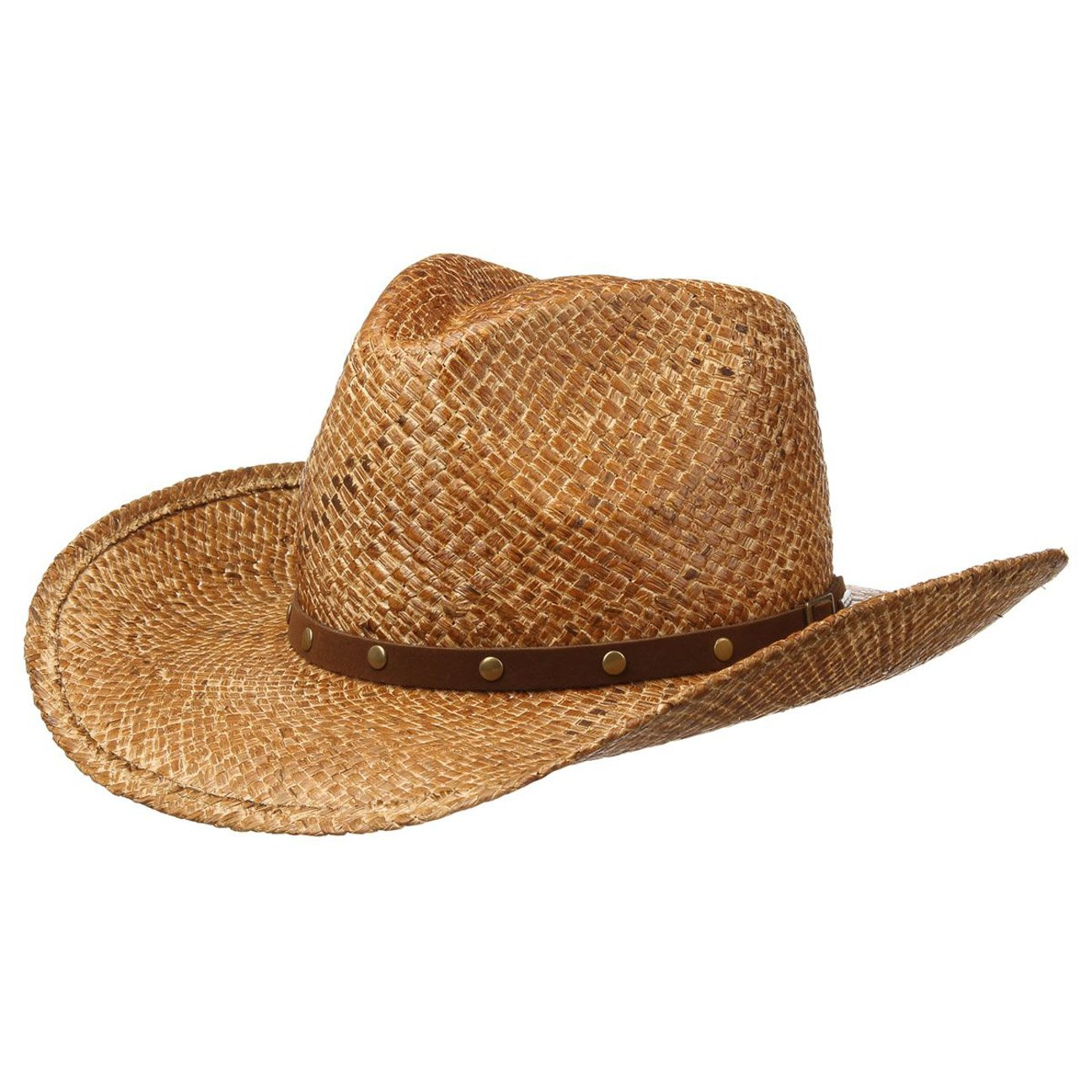 Stetson Hut Sonnenhut Maplewood Raffia Cowboyhut Strohhut Herrenhut mit Lederband