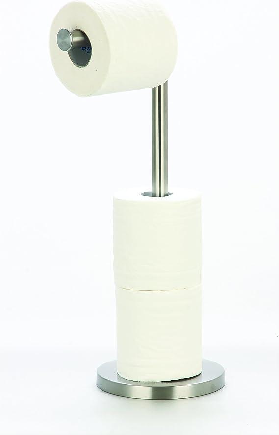 Toilettenpapierhalter freistehend mit Zeitungsständer3in1Toilettenpapierständer