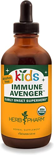 Herb Pharm Kids Certified-Organic Alcohol-Free Immune Avenger Liquid Herbal Formula, 4 Ounce