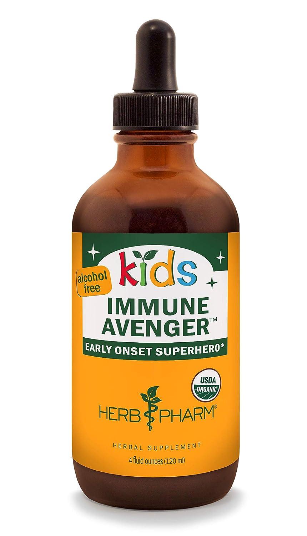 Herb Pharm Kids Certified-Organic Alcohol-Free Immune Avenger Liquid Herbal Formula, 4 Ounce