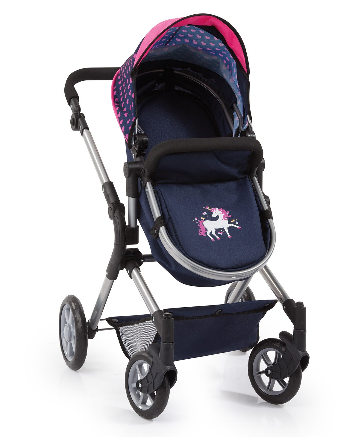 Bayer Design 18154AA City Neo Dolls Pram with Changing Bag, Blue/Pink by Bayer (Image #3)
