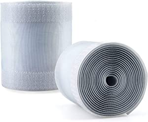 """2 Pcs Grey Floor Cord Cover for Office Carpet Wire Cover Under Desk Cable Grip Strip Management Hold Cords in Place for Power Cords Audio Cables Coaxial Cable Telephone Line (3.9"""" Width X 10'Length)"""