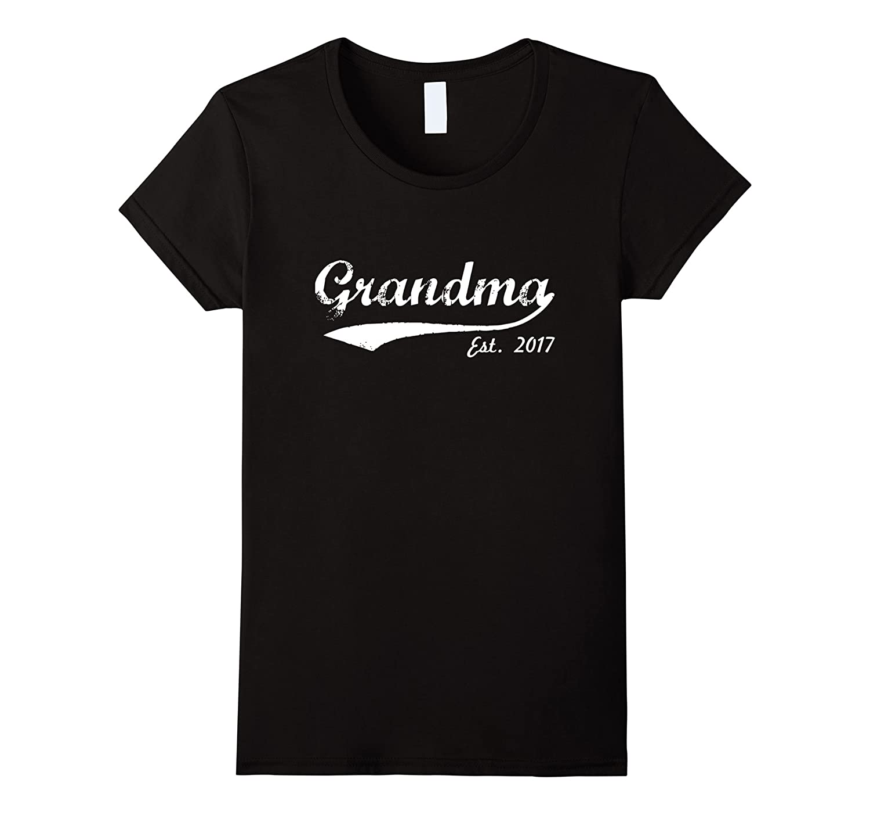 Women's New Grandma - Grandma Est. 2017 - Grandma To Be T-Shirt-CL