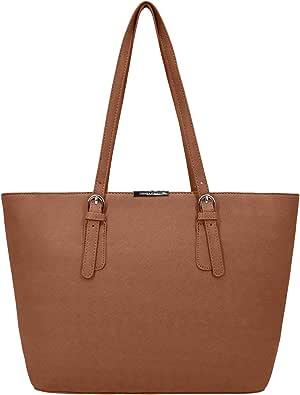 David Jones - Bolso de Mano Grande Mujer - Tote Bag Shopper Piel PU - Bolso de Hombro Trabajo Shopping Gran Capacidad Cuero - Bolso de Compras Asa Larga - Escuela Estudiante Moda