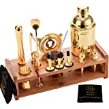 Soing Gold 24-Piece Cocktail Shaker Set,Perfect Home Bartending Kit for Drink Mixing,Stainless Steel Bar Tools With…